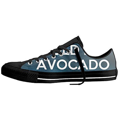 Keep Calm And Hold My Avocado Low-Cut Canvas Shoes Unisex Sneaker-All Season Casual Trainers For Men And Women ColourName (Costume National Shoes Online)