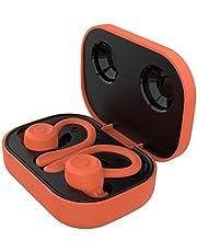 Auleset TWS Trådlös Bluetooth 5.1 IPX6 vattentät laddningsbox hörlurar öronkrok hörlurar sport headset kompatibelt för Android – röd