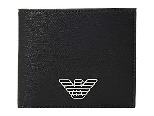 Emporio Armani Men's Plain PVC Wallet Black One ()