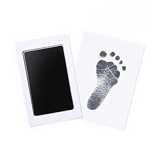 3 Pack Premium No-Mess Ink Baby Footprint & Handprint Ink Pad Safe and Non-Toxic Ink Perfect New Baby (Black) by TableRe (Image #5)