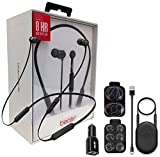 Beats by Dr. BeatsX Wireless in-Ear Headphones - Black - with Dual Car Adapter & Ear Gel,Lighting USB Kit (Certified Refurbished)