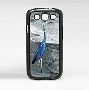 Blue Bird on Black and White Beach Hard Snap on Phone Case (Galaxy s3 III)