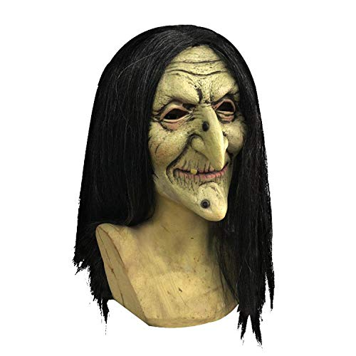 Female Ghost Mask Halloween Party Witch Latex Face]()