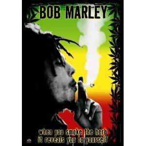 LPGI Bob Marley Herb Fabric Poster, 30 by 40-Inch