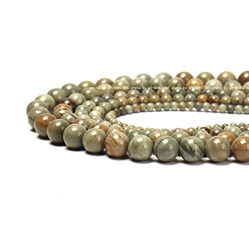 (100% Natural Stone Round Gemstone Loose Beads Top Quality Well Polished Natural Round Stone Crystal Energy Stone Healing Power for Jewelry Making 1 Strand 15