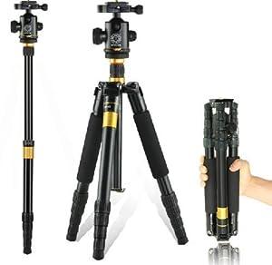 PowerLead Foldable Detachable Video Tripod Monopod Ball Head Photography for Canon Nikon Sony Panasonic DSLR Digital Camera Camcorder