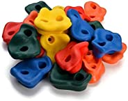 HK 20pcs Colourful Pig Nose Shape Rock Climbing Holds Indoor Outdoor Kids Playground Play Set Without Hardware