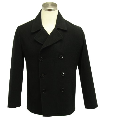 Kenneth Cole Reaction Men's Double-Breasted Jacket Black Size Small