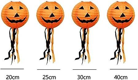 20cm GCDN Potiron Lanterne Suspendu avec Gland Maison Halloween D/écor Portable Enfants Papier Barre F/ête Fournitures Accessoires Ext/érieur DIY Festival - comme Image Spectacle 20cm