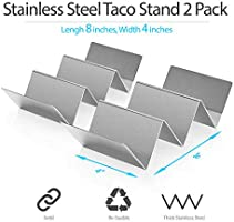 Amazon.com: 2 soportes de acero inoxidable para taco ...