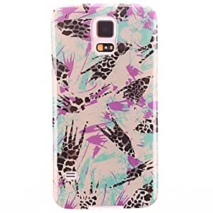 RC - Abstract Graffiti Pattern TPU Soft Protective Back Case Cover for Samsung Galaxy S5 I9600