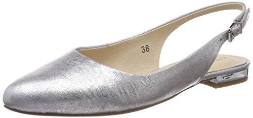 Donna Sling Caprice Back silver Metal Sandals Black Silver 920 29402 vFxxwR