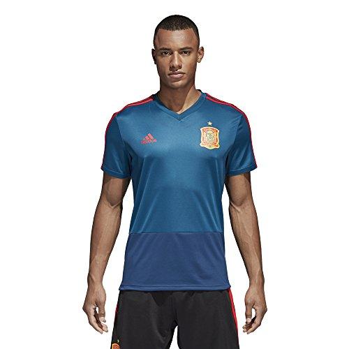 adidas Fef Tr Jsy Camiseta, Hombre AZUTRI/ROJO