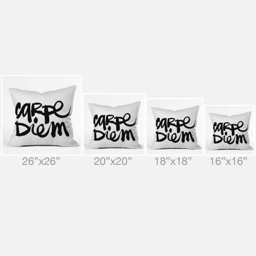 Deny Designs Kal Barteski Carpe Diem Outdoor Throw Pillow, 18 x 18
