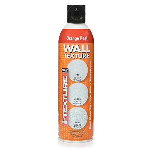 i-Texture TEXT-20ZOP1-06 Orange Peel Spray Texture for Wall patches & Repairs, 20 Oz - Spray Orange Peel Texture
