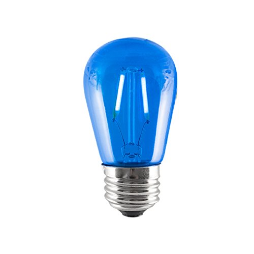 (Pack of 20) 2W LED S14 BLUE FILAMENT light bulb