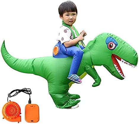 Inflatable Adults Children Riding Dinosaur Costume Masquerade Cosplay Wildlife by M I A (Color : Green, Size : Small)