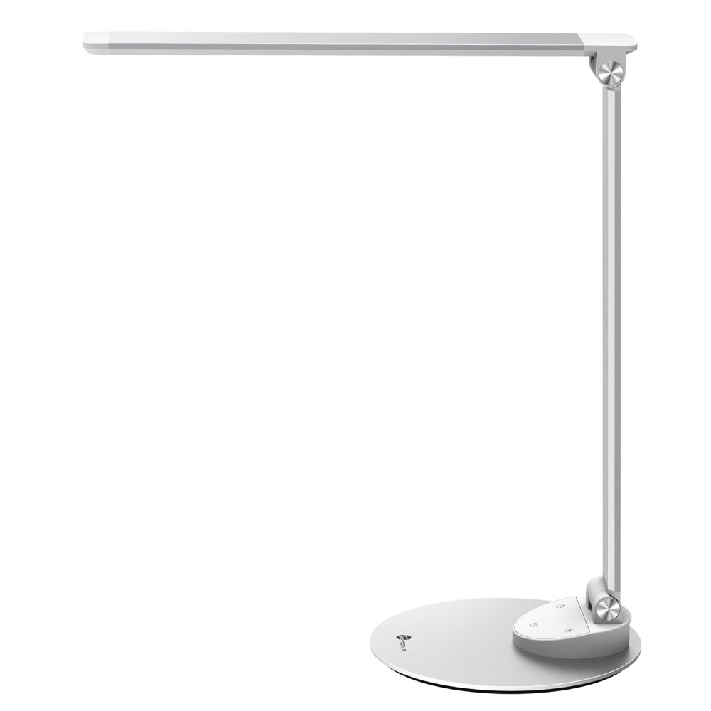 TaoTronics LED Desk Lamp with USB Charging Port, Eye- Care Dimmable Lamp, Metal, Glare-Free, 5 Color Temperatures with 5 Brightness Levels, Touch Control, Memory Function by TaoTronics