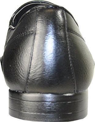 Bravo Herenschoenen Klein-3 Fashion Loafer Met Een Effen Ronde Puntige Teen Zwart