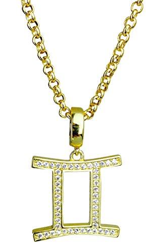 Gemini Symbol of the Zodiac Gold Plated Pendant