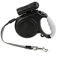 Retractable Dog Leash with LED Light(dismountable), 8M/26FT Length Dog Leash Strap for Large and Mediume Size Dogs. (Black)