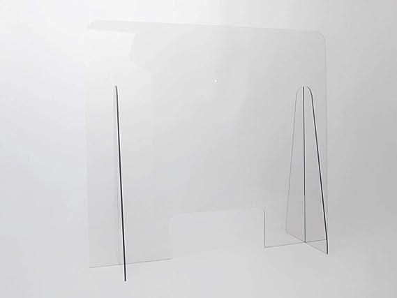 Mampara Proteccion Mostrador 75x68 cm Irrompible, lavable, transparente y montaje sin herramientas.: Amazon.es: Bricolaje y herramientas