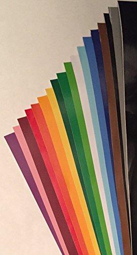 [해외]18 팩 - 12 x 12 - 모듬 된 색상 영구적 인 자기 점착 된 비닐 시트 브리지 Cricut 탐색 공기 실루엣 Cameo Craft 절단기 벽 장식/18 PACK - 12  x 12  - Assorted Col