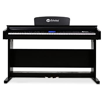 Schubert Piano Digital de Pared (88 Teclas dinámicas, Salida Midi, AUX, 3 Pedales, Incluye Atril, Pantalla LCD, Memoria Interna para Grabar, diseño Vetas de ...