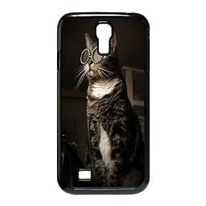 Qxhu Cool Cat Glasses Hard Plastic Back Protective case for SamSung Galaxy S4 I9500