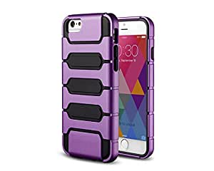"""JustBid Hybrid PC with TPU Armor Combo Shock Proof case For iphone 6 4.7""""-Purple"""