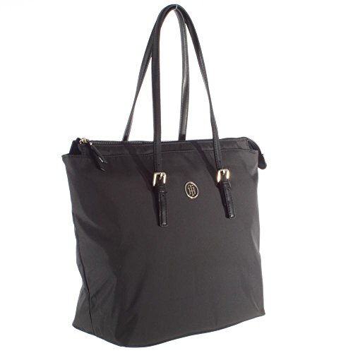 Tommy Hilfiger Handtasche Modern Nylon Tote 100 AW0AW03478 002 Black Damen Tasche