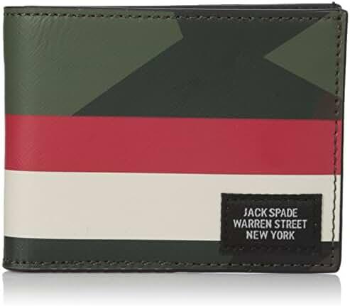 Jack Spade Men's Printed Leather Slim Billfold Wallet