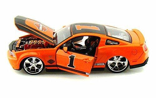 Ford Mustang GT Harley-Davidson #1, Orange - Maisto HD 32170 - 1/24 Scale Diecast Model Toy Car -  Maisto International Inc, 32170or