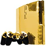 Sony PlayStation 3 Slim Skin (PS3 Slim) - NEW - GOLD CHROME MIRROR system skins faceplate decal mod