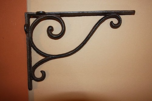 Southern Metal Set of 4 Classic Elegance Shelf Brackets Cast Iron 9 1/4 inch, B-6