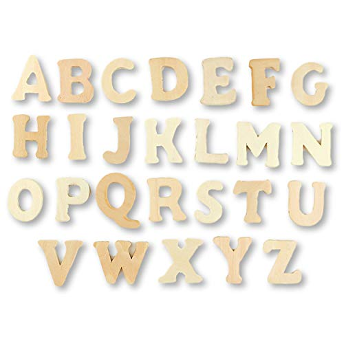 1.5 inch Mini Small Wood Letters 3/16 inch Thick Complete Alphabet 26 Letters
