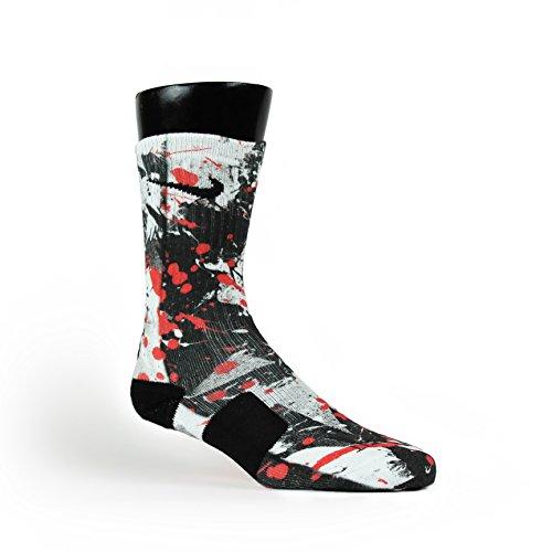 HoopSwagg Sneaker Art Custom Elite Socks Large Multi Custom Basketball Sneakers
