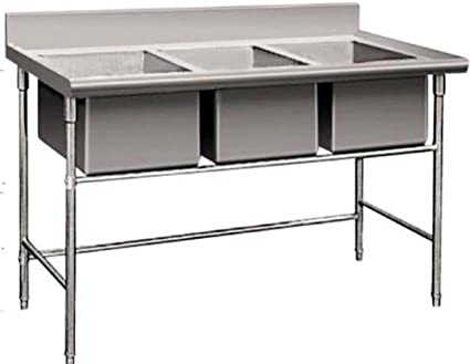 Commercial Stainless Steel Kitchen Sinks Amazon 3 compartment commercial stainless steel sink wash basin 3 compartment commercial stainless steel sink wash basin table workwithnaturefo