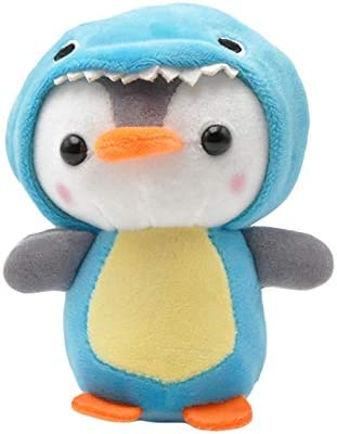 [해외]Eamoney Cute Penguin Bee Keychain Plush Doll Keyring Stuffed Animal Key Holder Handbag Hanging Pendant Blue / Eamoney Cute Penguin Bee Keychain Plush Doll Keyring Stuffed Animal Key Holder Handbag Hanging Pendant Blue