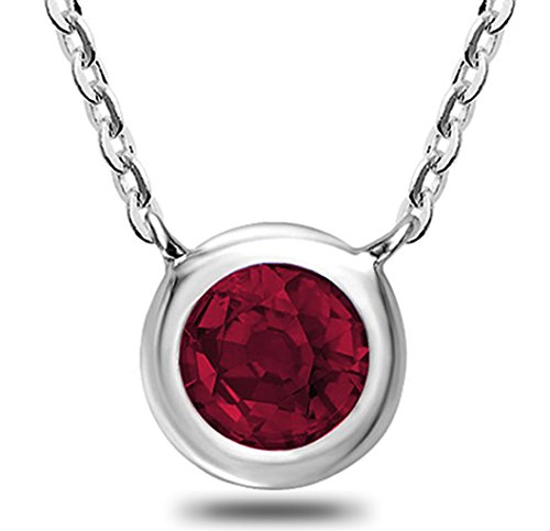 10K Gold and Ruby Pendant - 17