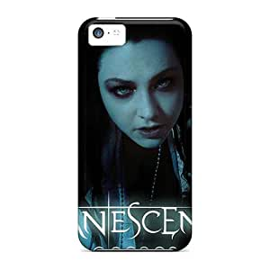 ErleneRobinson Iphone 5c Anti-Scratch Hard Cell-phone Case Provide Private Custom Realistic Evanescence Band Skin [qrb16017tmnR]