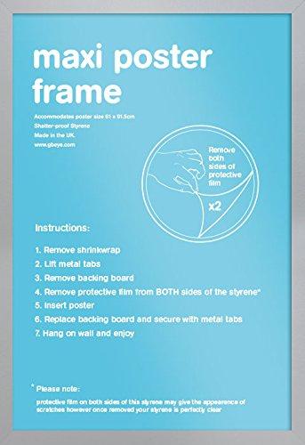 Cornici Per Poster.Gb Eye Ltd Cornice Per Maxi Poster 61 X 91 5 Cm Argento Silber