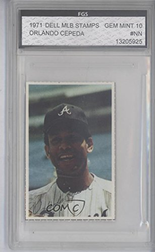 Orlando Cepeda Other ENCASED IN SLAB (Baseball Card) 1971 Dell MLB Stamps - [Base] #ORCE from Dell MLB Stamps