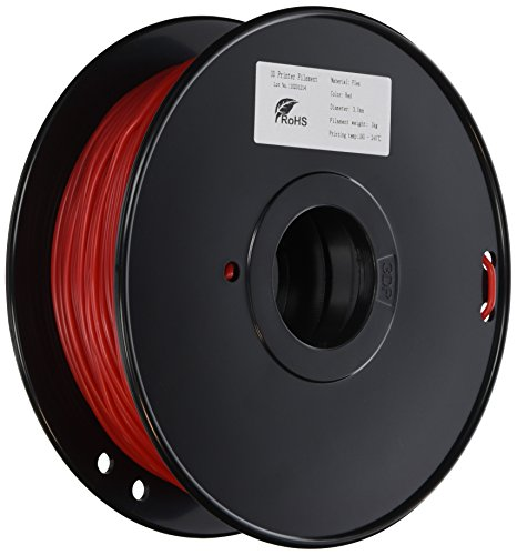 3D-Prima TPE Flexible Filament -3mm – 1 kg spool – Red