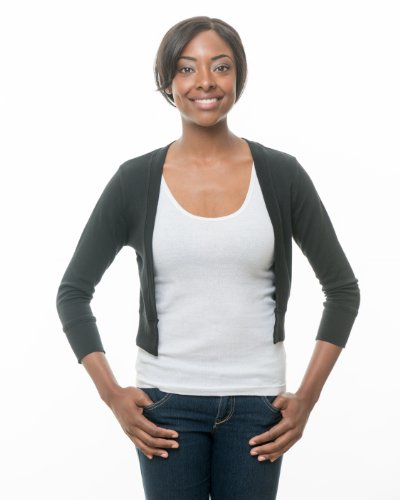 Secret Sweater Women's Packable 'Secret' Layering Cardigan L Black