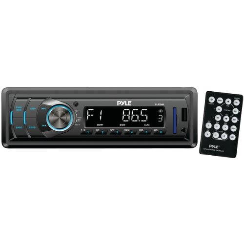 Pyle PLR34M In-Dash Stereo Radio Headunit Receiver, USB/SD Readers, AUX Input, MP3 Playback, Remote Control, Single (1996 Chevrolet Corvette Convertible)