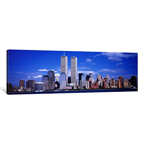 iCanvasART 1 Piece USA, New York City, with World Trade Center Canvas Print by Panoramic Images, 36 x 12/0.75