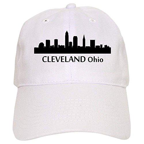 (Cleveland Cityscape Skyline Baseball - Baseball Cap with Adjustable Closure, Unique Printed Baseball Hat)