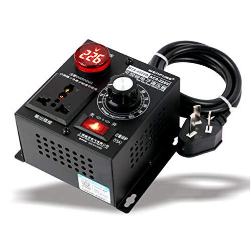 (AC 220V 4000W Variable Voltage Regulator Step Down Voltage Converter Transformer Motor Speed Fan Control Controller RA)
