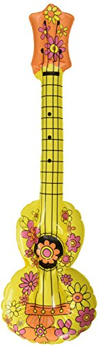 Creative Inflatable Ukulele Flower Power, 26cm x 80cm. Perfect for Party Prop Accessory -
